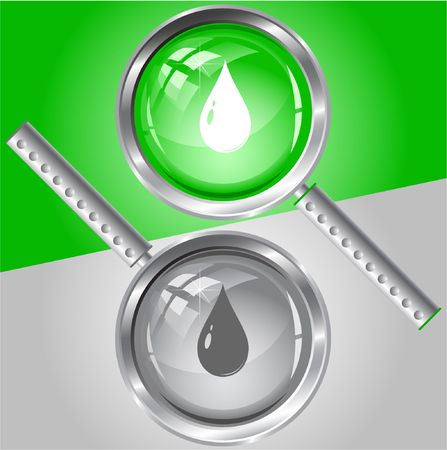 Drop. Vector magnifying glass. Stock Vector - 6731803