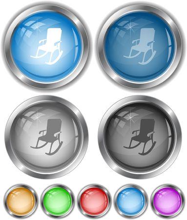Armchair.  internet buttons. Vector