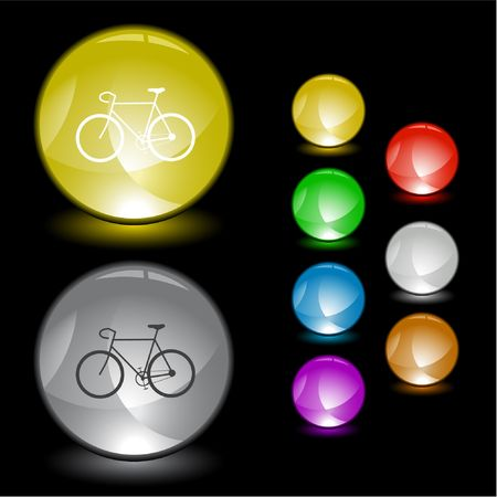Bicycle.  interface element. Vector