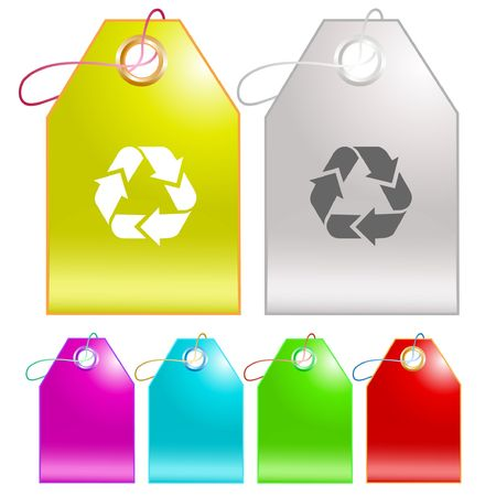 Recycle symbol.  tags. Stock Vector - 6732377