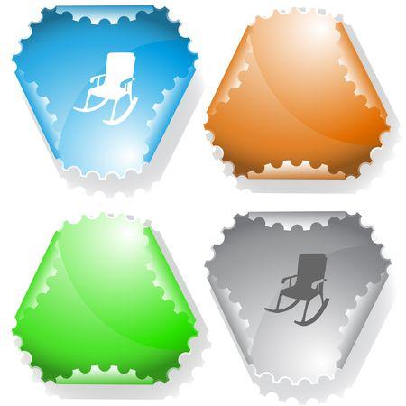 Armchair. sticker. Stock Vector - 6732578