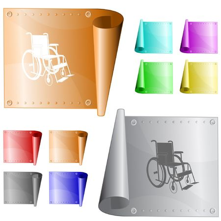 Invalid chair.  metal surface. Vector