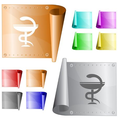 pharma: Pharma symbol.  metal surface.