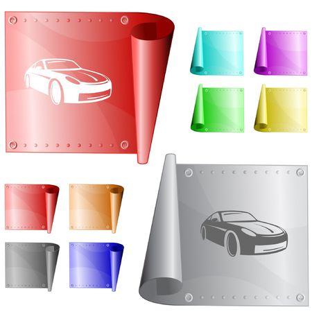 Car. metal surface. Stock Vector - 6731688