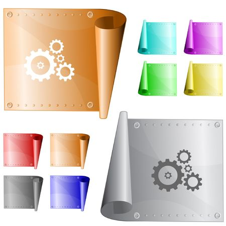 Gears.  metal surface. Stock Vector - 6731635