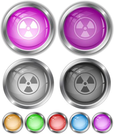Radiation symbol.  internet buttons. Vector