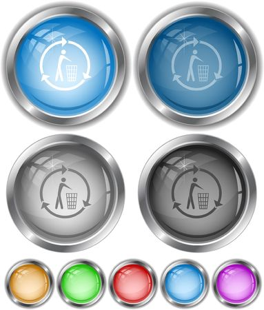 Recycling bin.  internet buttons. Stock Vector - 6770844