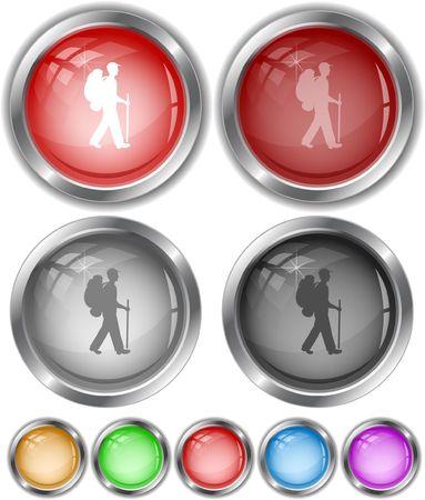 stranger: Traveler.  internet buttons. Illustration