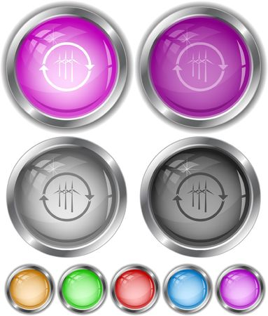 Wind turbine  internet buttons. Stock Vector - 6770858