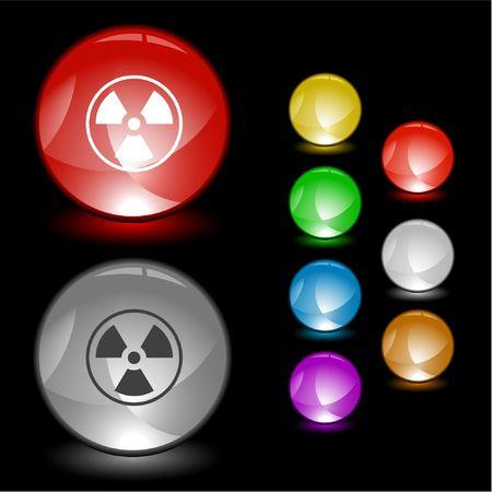 Radiation symbol interface element. Vector