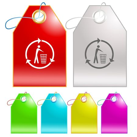 Recycling bin.  tags. Stock Vector - 6770045