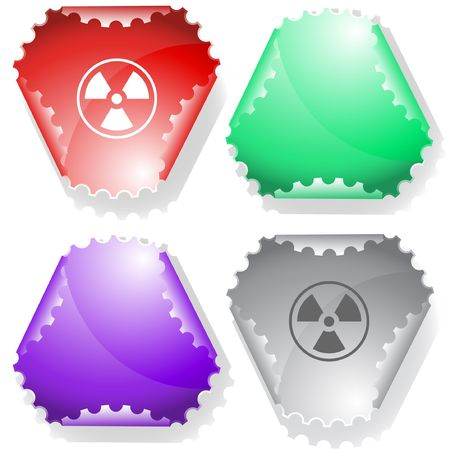 Radiation symbol.  sticker. Stock Vector - 6770070