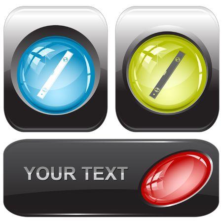 spirit level: Spirit level. internet buttons.
