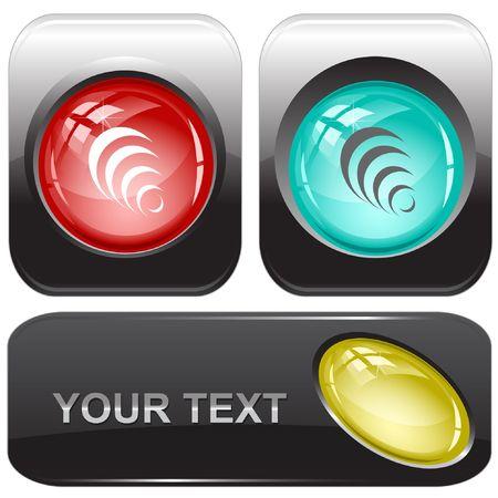 Pyramid. internet buttons. Stock Vector - 6774730