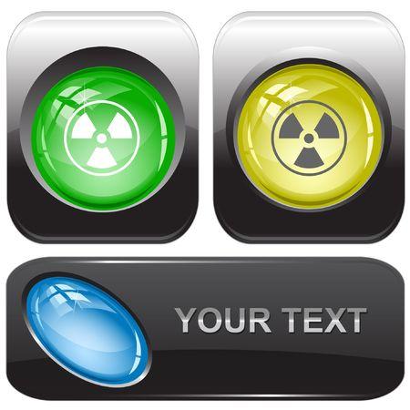 Radiation symbol. internet buttons. Stock Vector - 6774729