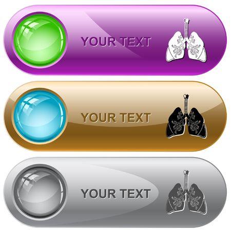 Lungs. internet buttons. Vector