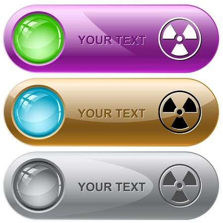 Radiation symbol.  internet buttons. Stock Vector - 6776266
