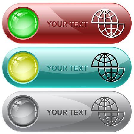 Shift globe.  internet buttons. Stock Vector - 6776361