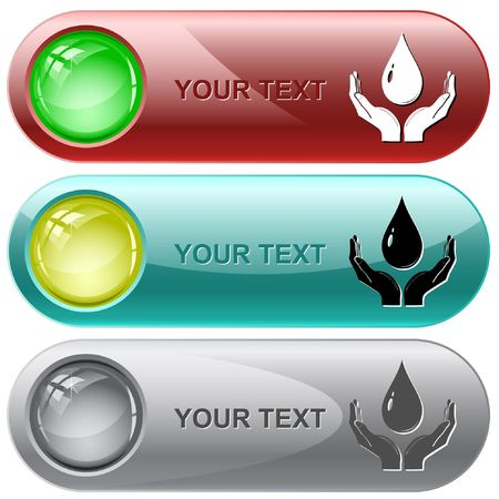 Protection blood.  internet buttons. Vector