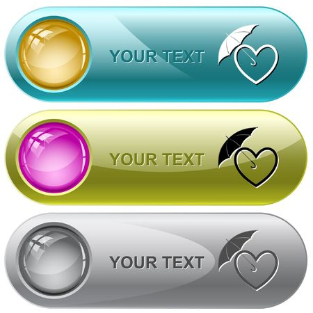 Protection love.  internet buttons. Vector