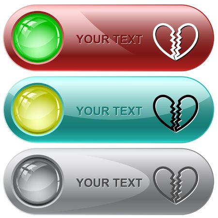 Unrequited love.  internet buttons. Vector