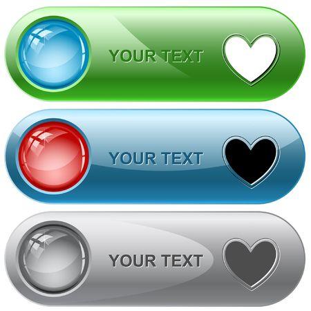 Heart.  internet buttons. Stock Vector - 6776291