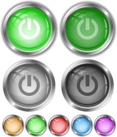 Elemento switch. pulsanti di Internet.