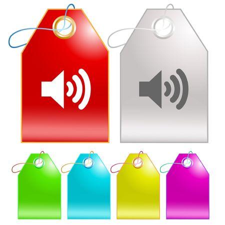 Speaker.  tags. Stock Vector - 6776464