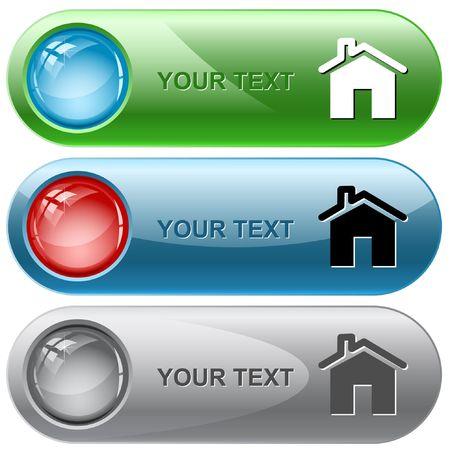 Home. internet buttons. Stock Vector - 6776510