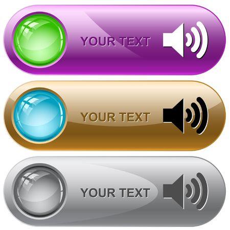 sonic: Speaker. internet buttons. Illustration