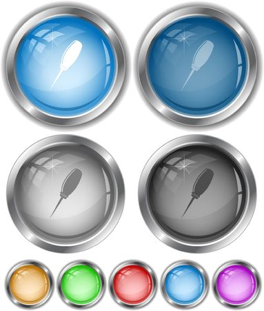 awl: Awl. internet buttons. Illustration