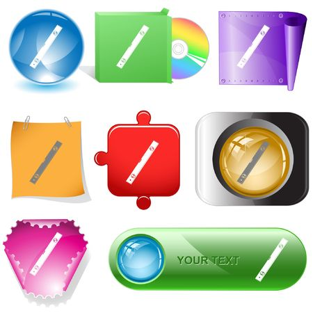 Spirit level.  internet buttons. Stock Vector - 6778182