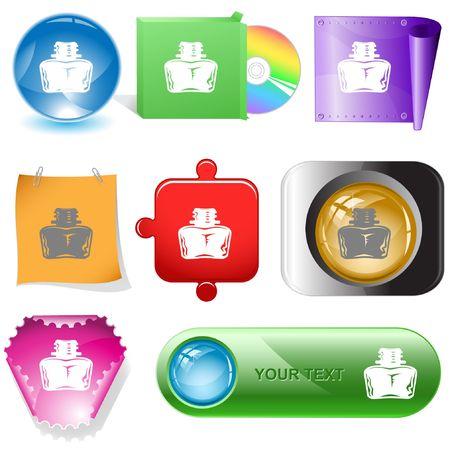 Inkstand. internet buttons. Stock Vector - 6777225