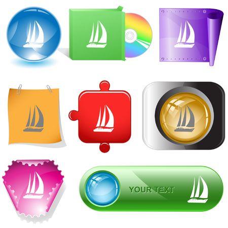 Yacht. internet buttons.