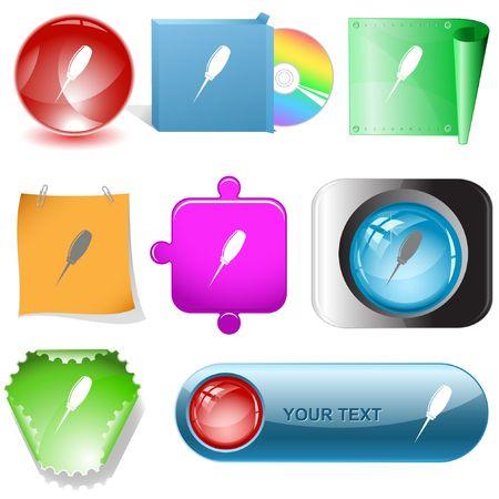 Awl.  internet buttons. Stock Vector - 6777061