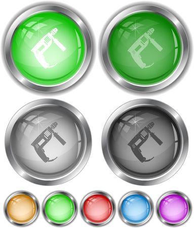 taladro electrico: Taladro el�ctrico. botones de Internet.