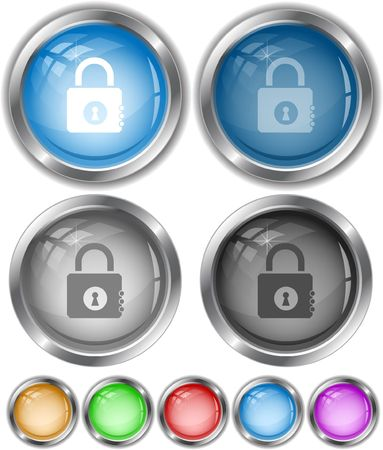 Closed lock.  internet buttons. Stock Vector - 6778259