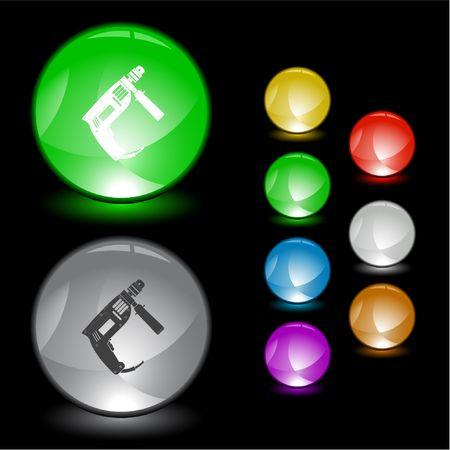 taladro electrico: Taladro el�ctrico. elemento de la interfaz.