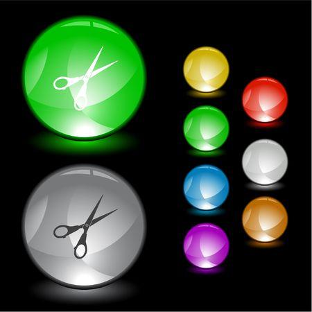 Scissors.  interface element. Stock Vector - 6774755