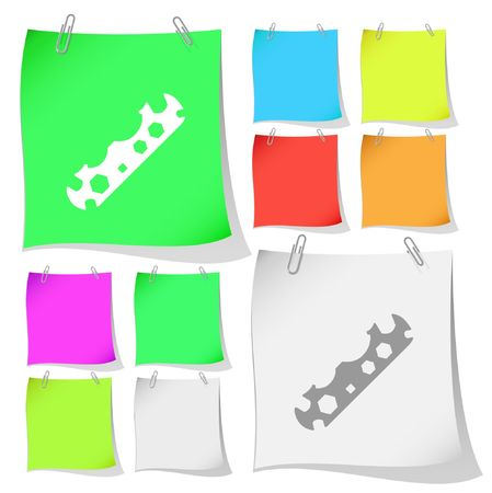 Cycle spanner. Vector note papers. Stock Vector - 6778207