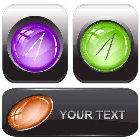 Caliper. internet buttons. Stock Vector - 6778197