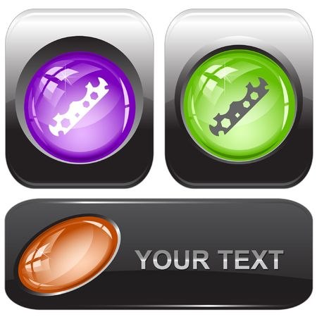 Cycle spanner.  internet buttons. Vector