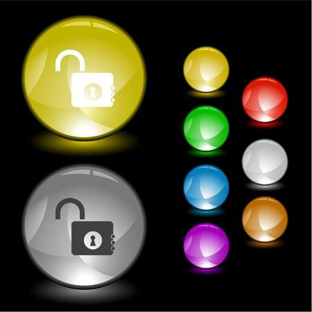 Opened lock.  interface element. Stock Vector - 6778313