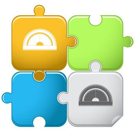 protractor: Protractor.  puzzle.