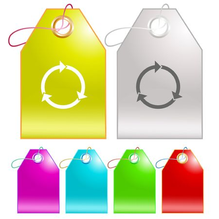 Recycle symbol.  tags. Stock Vector - 6778337