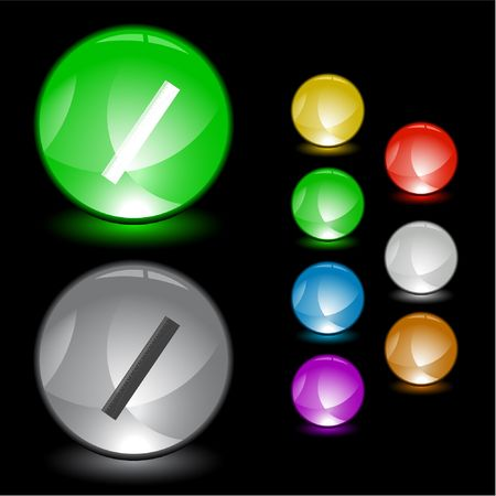 Ruler.  interface element. Stock Vector - 6779225