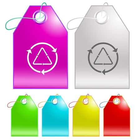 Recycle symbol. tags. Stock Vector - 6779176