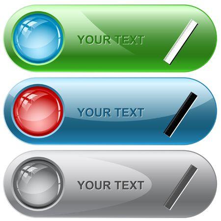 Ruler. internet buttons. Stock Vector - 6779301