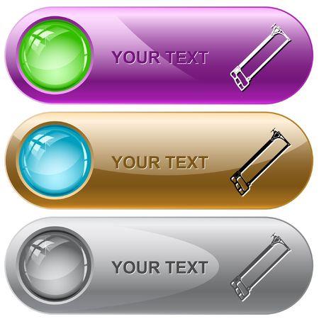 seghetto: Seghetto. pulsanti di Internet.  Vettoriali