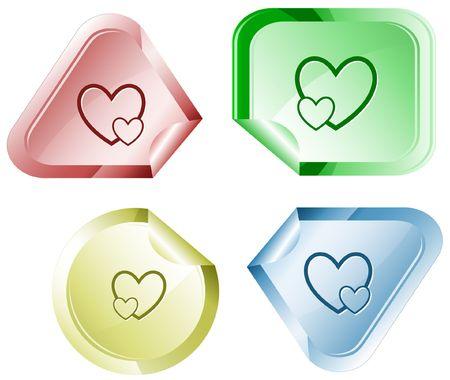 careful: Careful heart.  sticker.